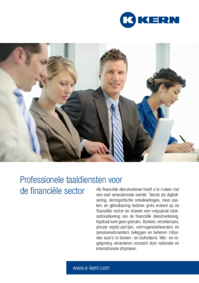Download het informatieblad professionele taaldiensten voor de financiële sector