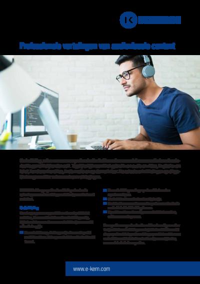Download het informatieblad professionele vertalingen van audiovisuele content