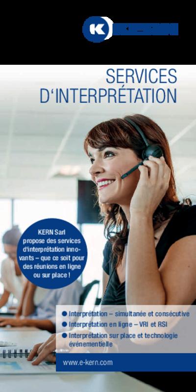 Téléchargement Brochure Services d'interprétation