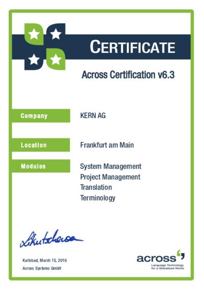 Download Across Certified v6.3