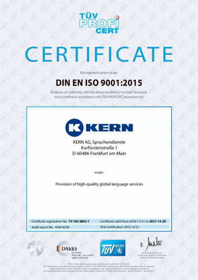 Download DIN EN ISO 9001:2015