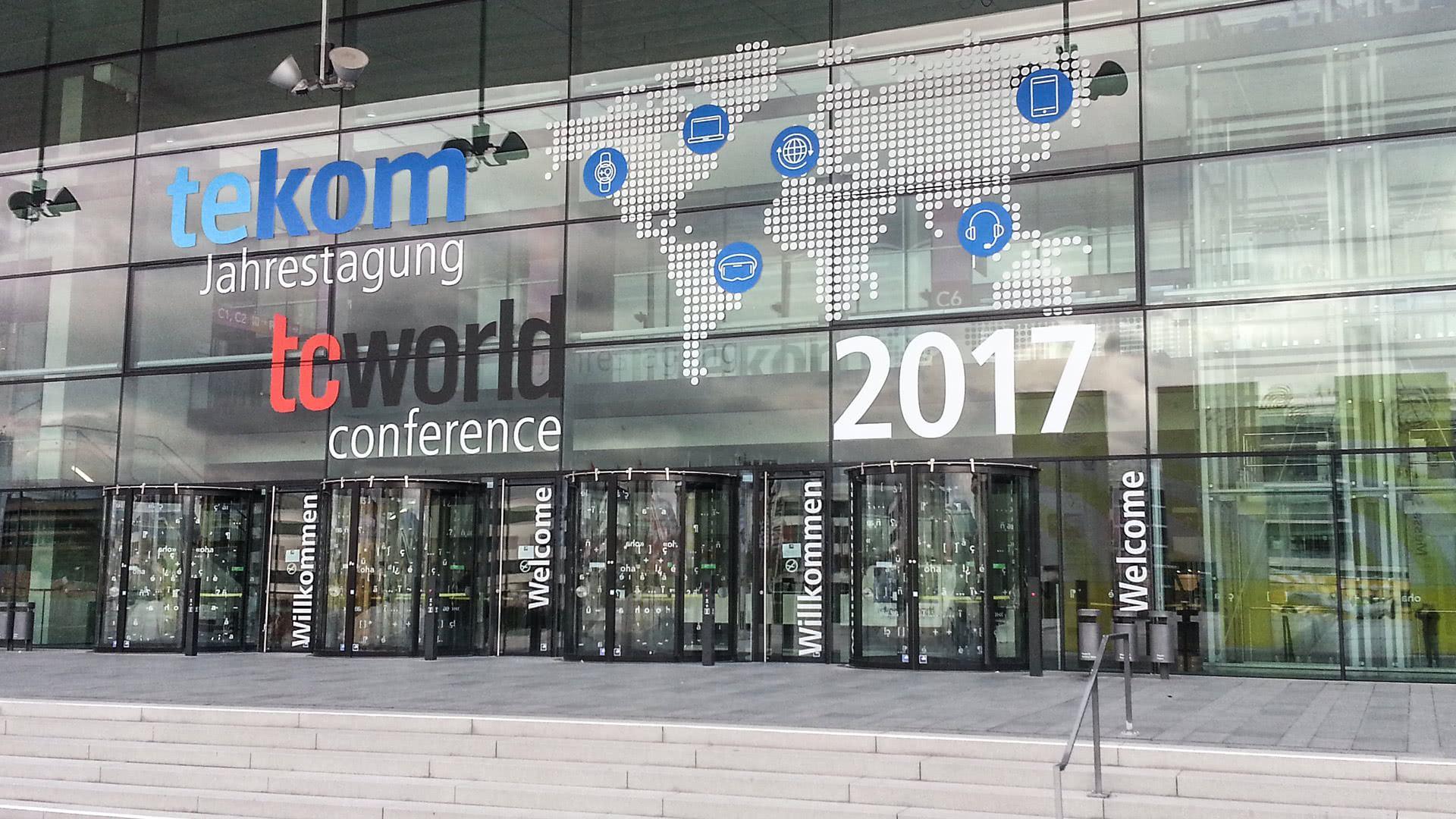 Eingang der tekom-Jahrestagung 2017